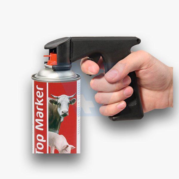 Χειρολαβή ψεκασμού για spray σήμανσης 1