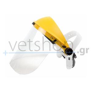 Μάσκα προστασίας με διάφανο PVC