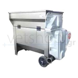 Σπαστήρας ηλεκτροκίνητος σταφυλιών με διαχωριστή και αντλία ZETA 30/A INOX